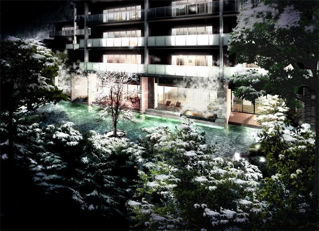 建築CGパースサンプル雪景色