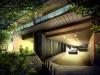 建築CGパースサンプル温泉リゾートエントランス