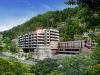 建築CGパースサンプル温泉リゾート全景